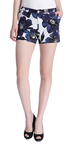 Only Women's Blue Colored Casual Shorts