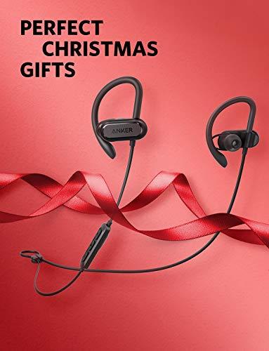 Soundcore Spirit X Bluetooth Kopfhörer von Anker, mit SweatGuard Technologie, 12 Stunden Akkulaufzeit, Super Halt und Fantastischem Sound, für iPhone, iPad, Samsung, Huawei und mehr (Schwarz)