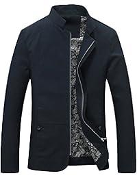 MatchLife - Chaqueta de traje - cuello mao - Manga Larga - para hombre