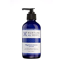 Nurture My Body Unscented Organic Baby Lotion - 100% Natural, Organic Moisturizing Cream for Babies (8 fl oz)