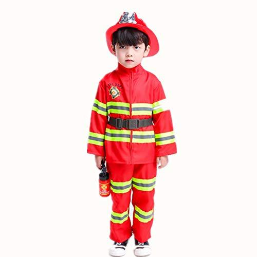 Proumhang Feuerwehr-Kostüm Kinderkostüm Feuerwehrmann Kinder Feuerwehrmann Fasching Karneval ()