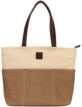 DCCN Canvas Shopper Damen Handtasche Einkaufstasche mit Große Kapazität 48*38*18cm