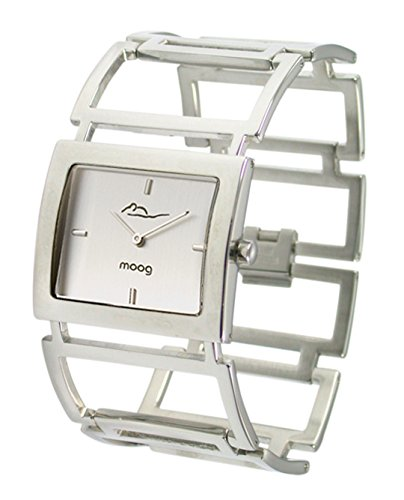 Moog Paris Aérienne Women's Watch with Silver Dial, Silver Strap in Stainless Steel - M46024F-004