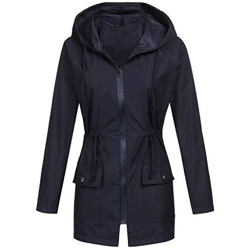 Deep lovly Damen Mantel Jacken Langarm Outdoor-Sportbekleidung Volltonfarbe Mantel Lässig Kleine...