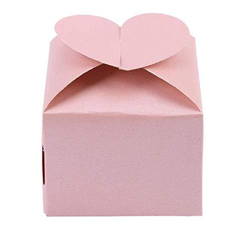 bjtgy Hochzeitstorte-Kasten-Liebes-Herz-Hochzeits-Bevorzugungen Süßigkeit-Kasten-Geschenk-Verpackenkasten für