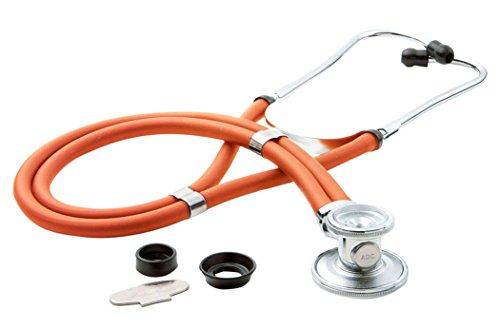 ADC 641 Sprague Stethoskop mit 5 austauschbaren Bruststücken, neon-orange, 1 -