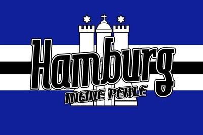 Fahne Flagge Hamburg MEINE PERLE Grösse 1,50x0,90m - FRIP -Versand®