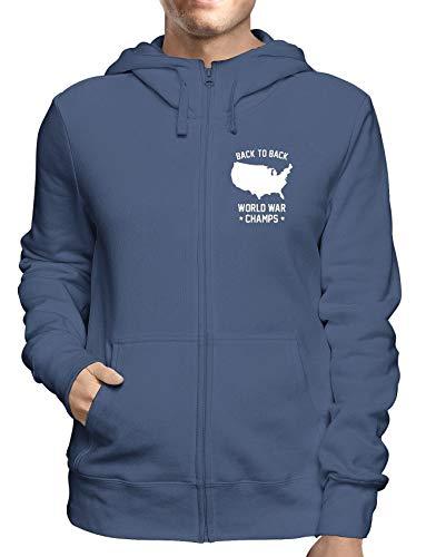 Sweatshirt Hoodie Zip Navy FUN0053 03 19 2013 Back to Back Champs Champ Zip Hoodie