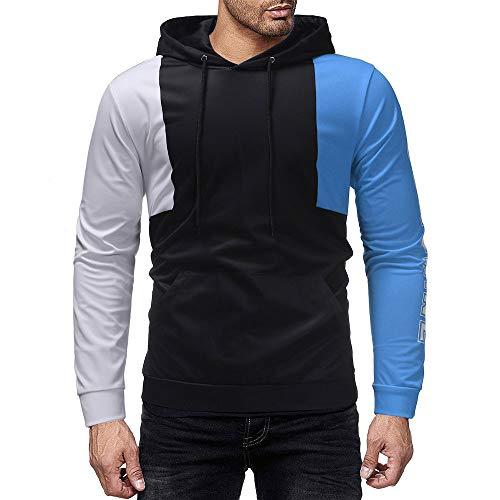 Qinsling felpa con cappuccio uomo inverno maglione elegante maniche lunghe distintivo hoodie cuciture con cappuccio uomo sweatshirt camicetta dolcevita classico tops