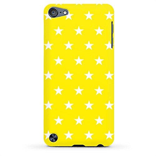DeinDesign Apple iPod Touch 5. Generation Case Hülle Schutzhülle Cover PremiumCase matt White - Polka Stars - gelb und weiß (Ipod 5. Generation Case Gelb)
