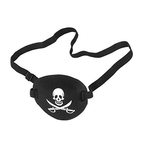 Generic - Parche ojos diseño calavera pirata cruzada