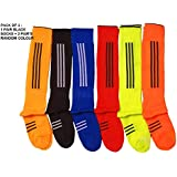 SLYK Football/Soccer Athletic Socks with Knee High (Pack of 3)