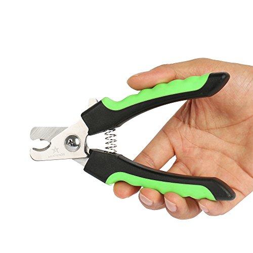 Soft Griff Protection Krallenschere Krallenzange 16 cm in Profiqualität mit Präzisionsklingen, zusätzlichen 10 doppelseitigen Einwegfeilen von amathings