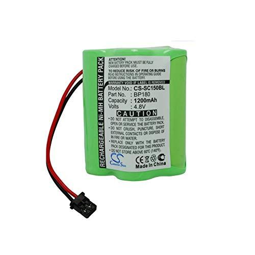 Barcode, Scanner-Batterie NI-MH-Barcode-Scanner-Batterie des 1200mAh / 5.76Wh 4.8V kompatibel für Radio Shack wiederaufladbare Zellen (Farbe : Grün, Größe : 50.51 x 38.80 x 28.60mm)