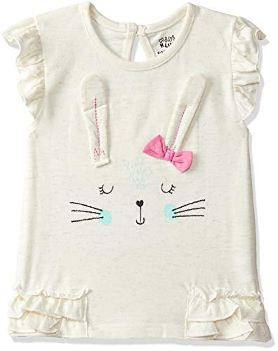 MINI KLUB Baby Girls'Plain Regular Fit T-Shirt (92IFGTS107_Off White_12-18M)
