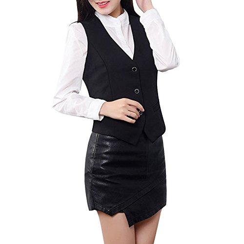 YOUMU Signore delle donne Ospitalità abbigliamento da lavoro Gilet senza maniche con scollo V