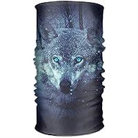 jiantsk Magic Headwear Fantasy Wolf Outdoor Scarf Headbands Bandana Mask Neck Gaiter Head Wrap Mask Sweatband