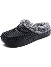 YOOEEN Zoccoli e Sabot di Peluche Donna Uomo Pantofole Ciabatte Inverno  Caldo Confortevole Traspirante Antiscivolo Scarpe 5a896676429