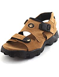 Fucasso Men's Synthetic Tan Sandals