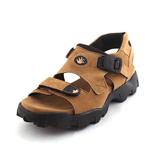 5a84cf5a6be93d Fucasso Men s Synthetic Tan Sandals-9UK - Compare With Ease