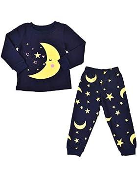 K-youth Ropa Bebe Niño Otoño Invierno Ofertas Luna Estrellas Infantil Bebé Niña Camisa de Pijama de Manga Larga...