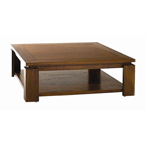 MACABANE Table Basse sous Plateau Bois, 90 x 90 x 32 cm