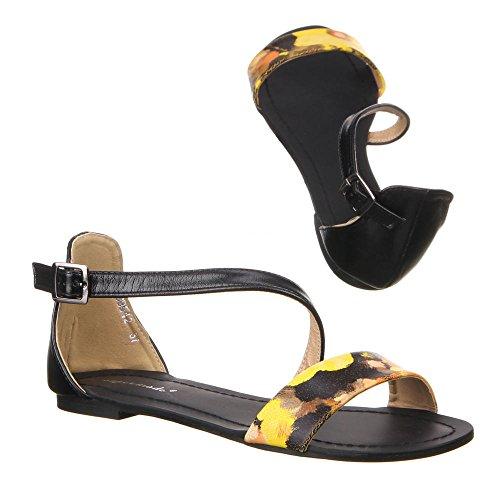 Chaussures, 99542, sandales Multicolore - Gelb Multi