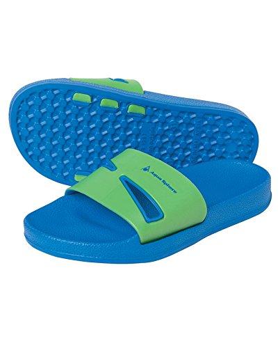 Aqua Sphere Chaussures de Baie de l'eau pour Bleu roi/Green