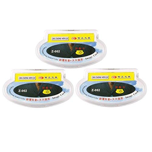 Sourcingmap Hard Kunststoff Clip Pin Zirkular Saum Halterung für Namensschild (Pack von 3)