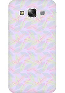 AMEZ designer printed 3d premium high quality back case cover for Samsung Galaxy E5 (pastel leaves )