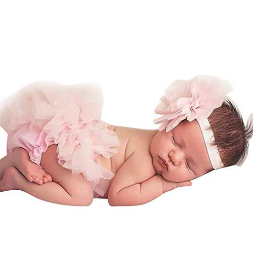 KIMODO Kleinkind Baby Mädchen Bowknot Neugeborenes Tüll Tütü Urlaub Prinzessin Rock + Stirnband Outfit Kleidung - Olive-partei-kleid