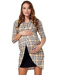 HAPPY MAMA Para Mujer Vestido Cruzado Diseño de Capa Premamá y de Lactancia.033p