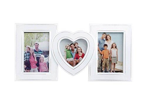 Bilderrahmen 40x20cm - weiss - Klassisch Herz Familie nostalgisch Nostalgie Landhaus - Fotogalerie Collage Fotorahmen Bildergalerie