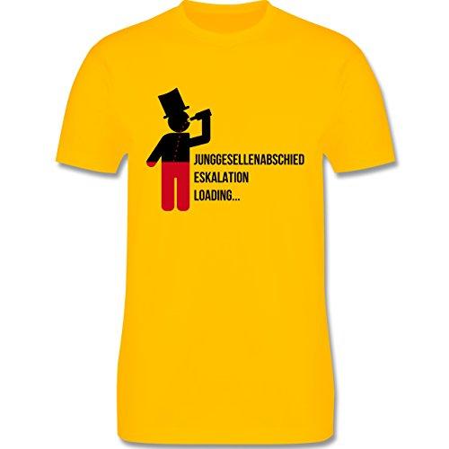 JGA Junggesellenabschied - Eskalation Loading Bräutigam - Herren Premium T-Shirt Gelb