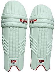 Hombres BDM dinámica de la energía estupenda de la PU del cuero Cricket protectora de la pierna de la mano de bateo cojín de derecha-izquierda