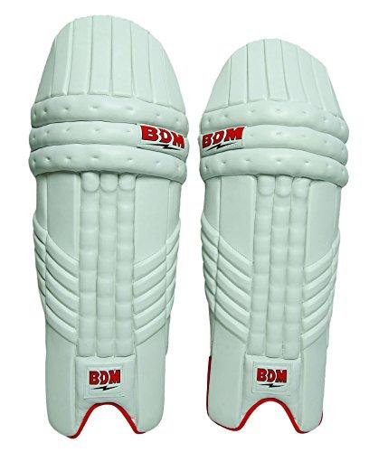 BDM Dynamische Super Power PU-Leder-Männer Cricket Batting Pad Rechts-Links-Hand-Bein-Schutz
