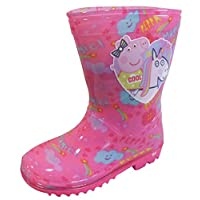 Peppa Pig Girls Wellington Rain Boots Wellys Pink