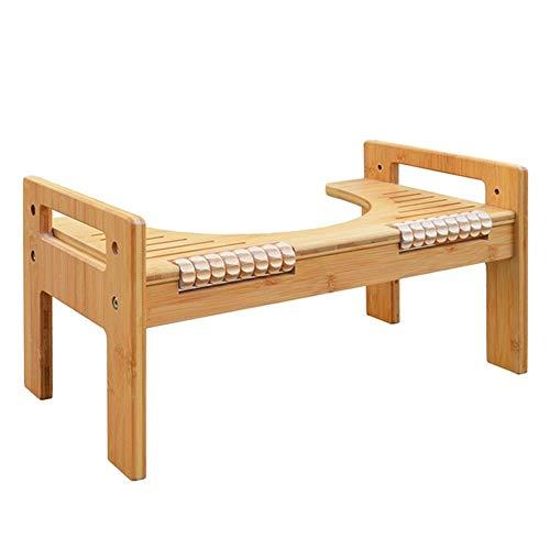 CQILONG-Badezimmer Hocker WC-Ottomane Squat Unterstützen Bambusholz Einstellbar rutschfeste Massage Tragfähigkeit 75kg (Color : A, Size : 45X25.9X24.4CM) (Qi-massagegerät)