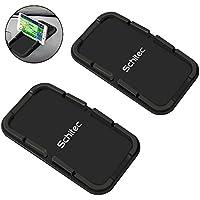2Pack Support de téléphone portable, SCHITEC Anti-dérapant Silicone Dash Pad Tapis Sticky Mount titulaire pour la plupart Téléphone intelligent iPhone X / 8 / 7Plus / 7 / 6S / 6 / 5s / 5 Android Samsung Galaxy S8 + / S8 / S7 / S6 / S5 Edge Nexus etc