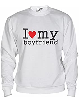 Felpa Unisex I Love My Boyfriend By Bikerella