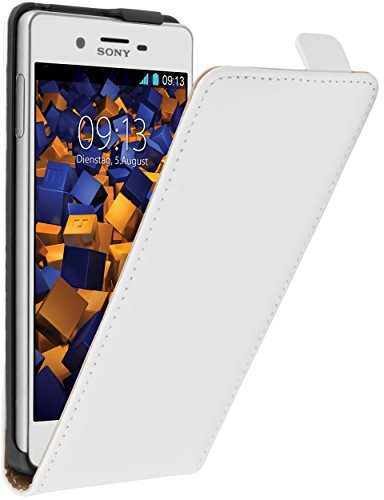 mumbi Flip Case für Sony Xperia X Tasche weiss