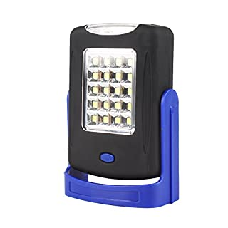 rungao LED Taschenlampe Magnet-Arbeitsleuchte USB wiederaufladbar 360Grad Ständer zum Aufhängen Taschenlampe, blau