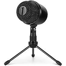 1byone USB micrófono con trípode, Mute botón con LED, Plug & Play micrófono cardioide de condensador USB