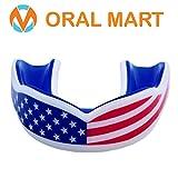 Oral Mart USA Flagge Mundschutz für Kinder - Kissen Jugend amerikanische Flagge Sport Sprachrohr für Flag Football, (Alter 11 & unten) Amerikanische
