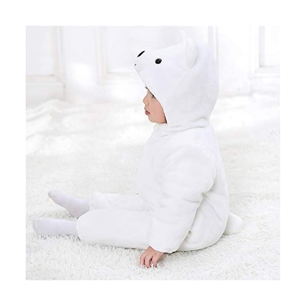 Recién Nacido Franela Mameluco Bebé Unisexo Invierno Jumpsuit Animal Caricatura Trajes 0-24 Meses 4
