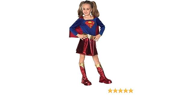 Ragazze Supergirl SUPERWOMAN Supereroe LIBRO giorno settimana Fancy Dress Costume Outfit
