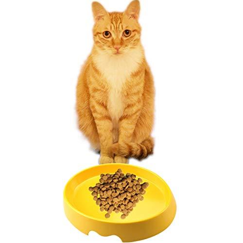 Art Print Schüssel (GAOJIJI Nette Katze Print Haustiere Schüssel Lebensmittel Wasser Fütterung Reise Tragbare Melamin Schüssel Schüssel für Hunde Katzen Wasser Feeder Dish)
