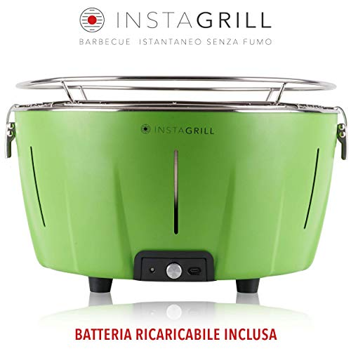 Classe Italy InstaGrill Barbecue a Carbone Senza Fumo, Verde