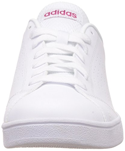 adidas Vs Advantage Clean, Sneakers Basses Femme, Core Black/Core Black/Light Orchid Blanc (Ftwwht/ftwwht/bopink)