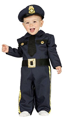 KINDERKOSTÜM - POLIZIST - Größe 92-93 cm ( 12-24 Monate (Kleinkind Kostüm Cop)